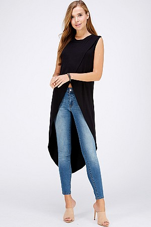 HL Solid Knit Modal Top