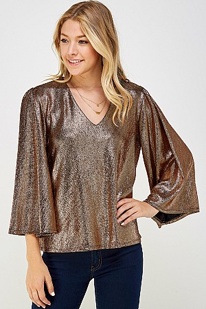 SOLID METALLIC FOIL FLARE TOP